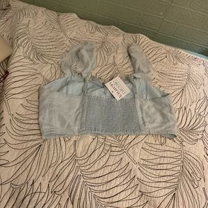 Mustard Seed Tops - NWT light blue crop top